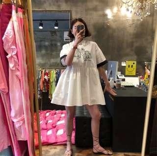 🚚 Minimei追加款✪韓系韓版百搭休閒減齡個性 軟萌系小狗狗polo襯衫娃娃連衣裙