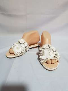 Authentic CHANEL Floral Slippers Sandals Size 35