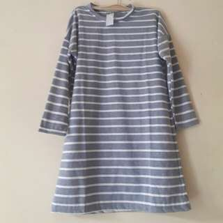 Atasan Tunik Kaos uk/ S-M (Grey)
