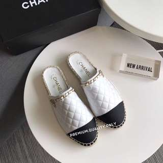 Chanel Charms Flats Sandal- white