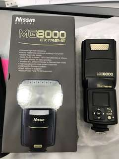 Nissin MG8000 Flash for Canon *LUCKY DRAW GIFT* 100% new with 1 year warranty.