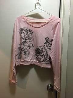 Pink cropped jumper