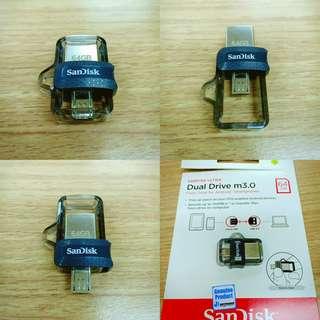 Sandisk Ultra Dual Drive m3.0 OTG 64GB