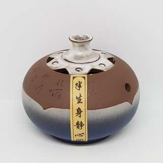 台湾式彩陶香爐 Taiwanese Style Ceramic Incense Burner