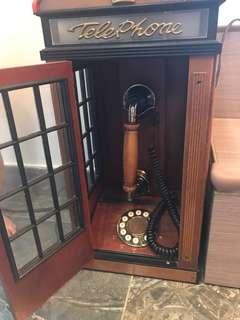 木製英國復古電話亭電話原5800