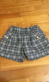 🚚 黑白格 蘇格蘭 短褲