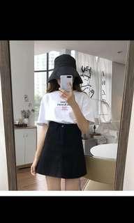 🚚 黑色牛仔A字短裙