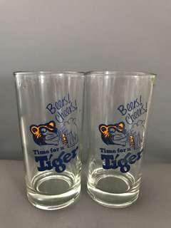 Tiger Beer glasses