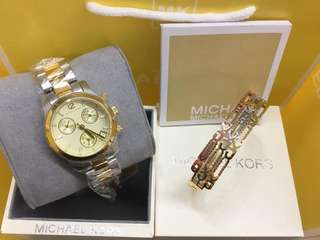 MK WITH BANGLE AUTHENTIC WATCH