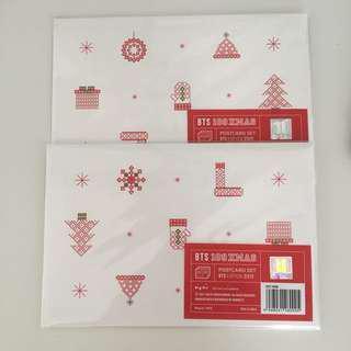 🚚 bts xmas 109 shibuya christmas postcard set