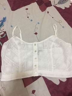 Kendall & Kylie white crop top