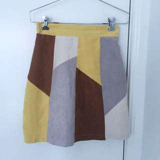 Retro Geometric Skirt
