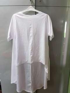 Long back blouse/top
