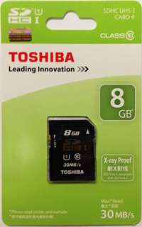 Toshiba Memory Card SD 8GB