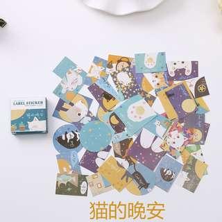 40 Pieces Mini Cute Cat Stickers