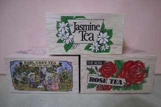 新加坡特色木盒茶包(Earl Grey伯爵/Rose玫瑰/Jasmine茉莉)