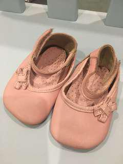 Clark's pink baby shoes
