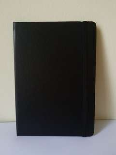 Slim Black Hardcover Lined Notebook