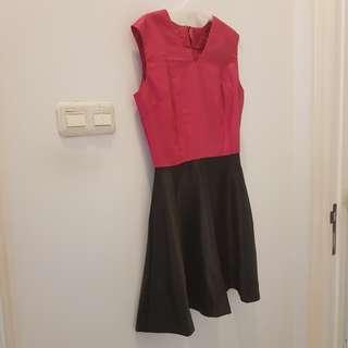 Black Pink Cocktail Dress