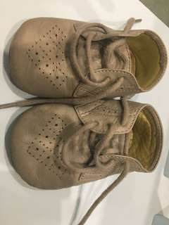 Purebaby leather baby shoes