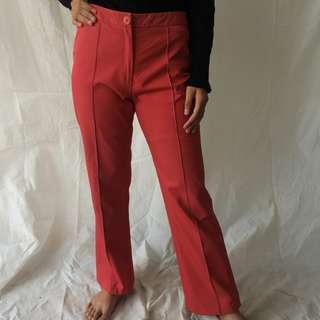 Long Sweet Red Pants