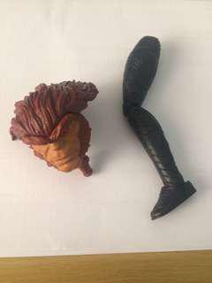 Marvel Legends BAF Pieces Sasquatch(head) and Okoye(left leg)