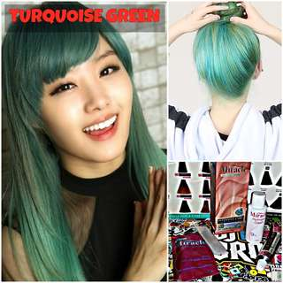 Turquoise Green Hair Dye / Colour (SALE)