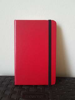 Slim Red Hardcover Lined Notebook