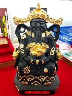 🚚 Lp Khlaeo God Of Wealth Cai Sheng Ye(财神爷)8.5Inch Tall Bucha BE255x(C.E201x)