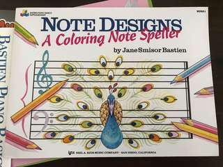 Music colouring book