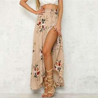 Irregular Splited Skirt