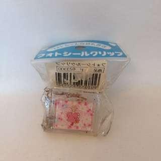 ❎❎清倉跳樓不議價❎❎ sanrio marron cream 碎花兔 夾仔 1997年