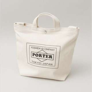 Urban Research x Porter tote bag 布袋 off white 白色