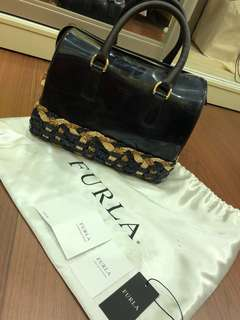 Authentic Furla Candy Straw Bag