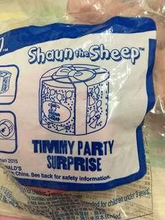 McDonald 麥當勞🍔Shaun the sheep Timmy party surprise box 可以打開