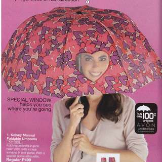 Avon Kelsey Manual Foldable Umbrella with Special Heart Window