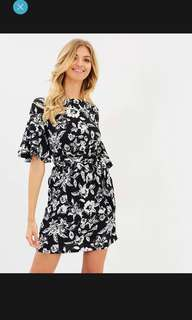 Atmos&here Lara Ruffle Dress BNWT