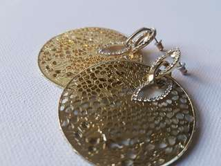 Gold Couture hoop drop earrings Forever New