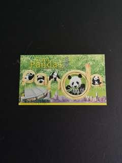 D11  1999香港邮票,大熊猫小型张
