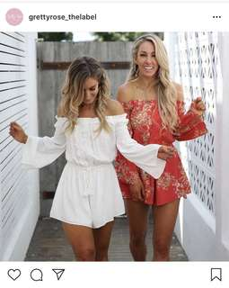 Gretty Rose Tulum Playsuit White BNWT