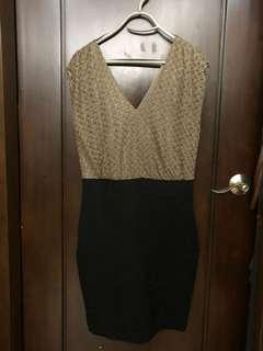 EXPRESS Night put Bronze Dress