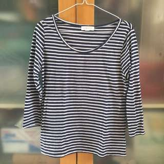 forever 21 long sleeves stripes top