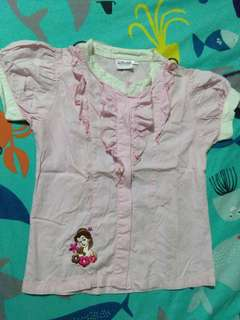 Disney princess pink polo