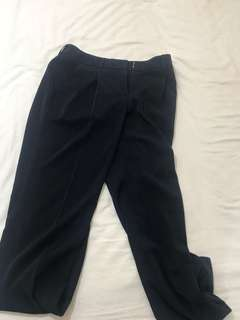 Navy Basque Pants