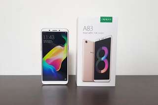 Oppo A83 in Champagne Gold 3gb RAM / 32gb ROM version
