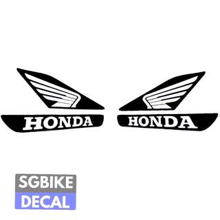 Black Honda Wing Decal