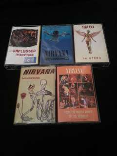 Cassettes NIRVANA 5 pcs SET. Kaset tapes