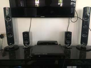 LG DVD player and sound system