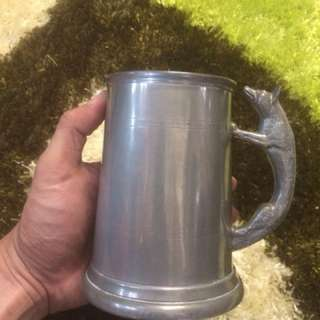 Vintage Sheffield Pewter Mug Antik