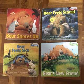 Bear snores on board book